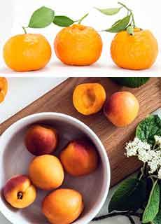 オレンジピール、アプリコット