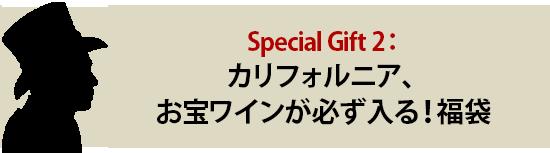 Special Gift 2:カリフォルニア、お宝ワインが必ず入る!福袋