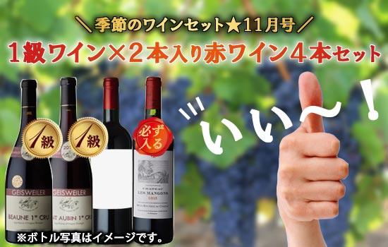 1級ワインx2本入り赤ワイン4本セット