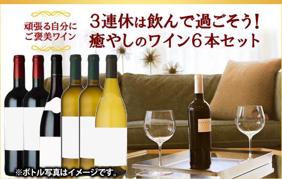 癒やしの紅白ワイン6本セット