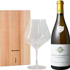 ルモワスネ シャブリ 一級フルショーム【2015】ワイングラス kシリーズブルゴーニュワイングラスセット
