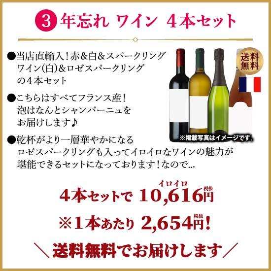 年忘れ ワイン 4色セット