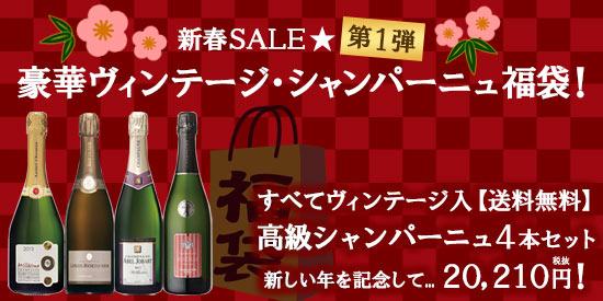 ★新春SALE★《第1弾》豪華ヴィンテージ・シャンパーニュ福袋
