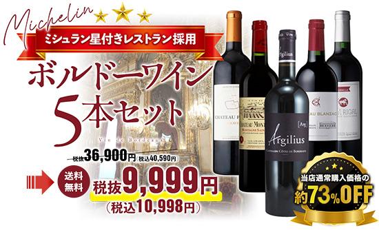 ボルドーワイン5本セット