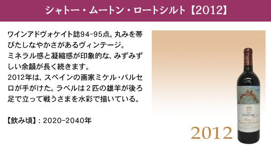 シャトー・ムートン・ロートシルト【2012】