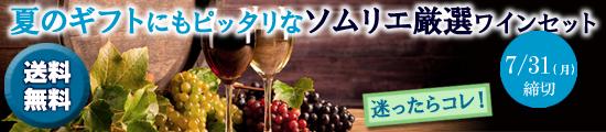 【季節のワインセット★7月号】ソムリエ厳選ワインセット