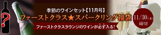 季節のワインセット【11月号】ファーストクラス★スパークリング福袋