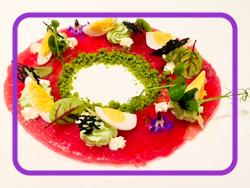 パリ事務所近くのレストランにて、アントレにいただいた一皿