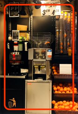 フレッシュオレンジジュースが作れる機械