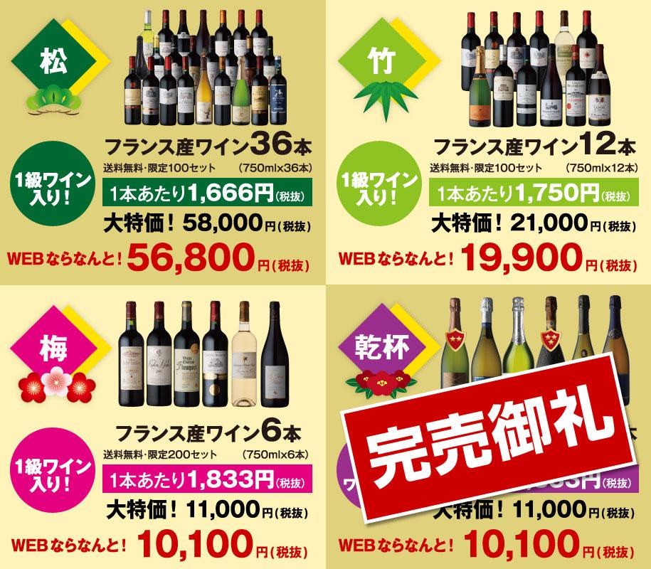 福袋の紹介【極松、松、竹、梅】